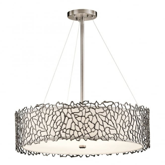 Delicate Coral Pattern Ceiling Pendant Light With Glass