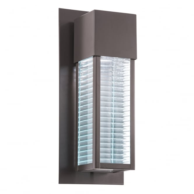New York Lighting Collection SOREL modern architectural LED exterior wall light in bronze
