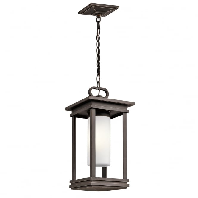 SOUTH HOPE modern classic exterior hanging lantern in rubbed bronze
