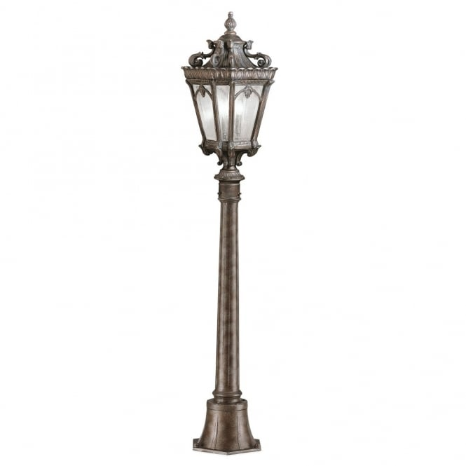 New York Lighting Collection TOURNAI Gothic outdoor pillar light in aged bronze
