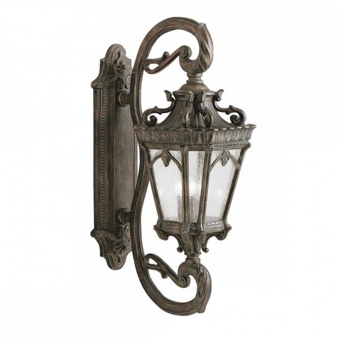 Ornate gothic outdoor wall lantern in matt bronze with seeded glass ornate gothic wall lantern for exterior use matt bronze with seeded glass aloadofball Gallery