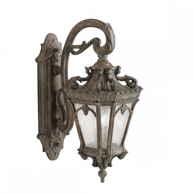 TOURNAI large ornate Gothic exterior wall lantern in aged bronze