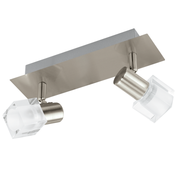 50 Staircases That Expertly Mix Function And Style: Contemporary Satin Nickel LED Wall Light With Glass Shades
