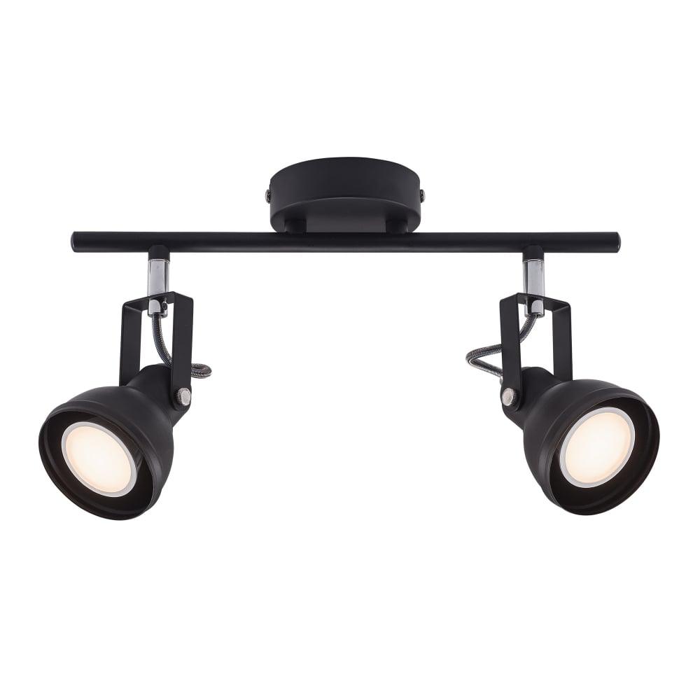 Modern Retro Design Adjustable Double Spotlight in Black for Ceiling Double Spot Light  300lyp