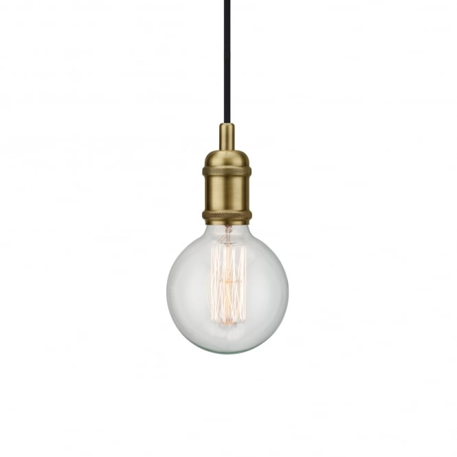 AVRA decorative pendant suspension in brass