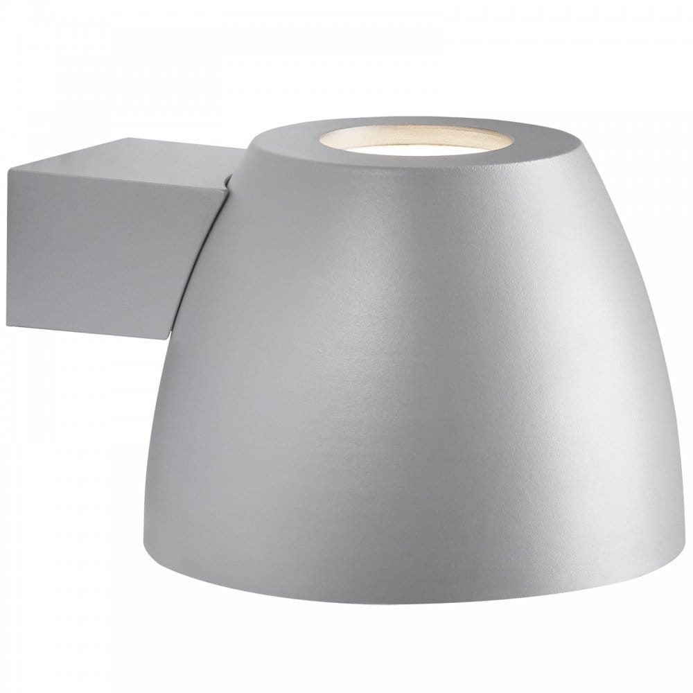 Modern Garden LED Wall Light with IP44 Rating, Grey Finish