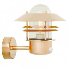 BLOKHUS copper garden wall light with sensor
