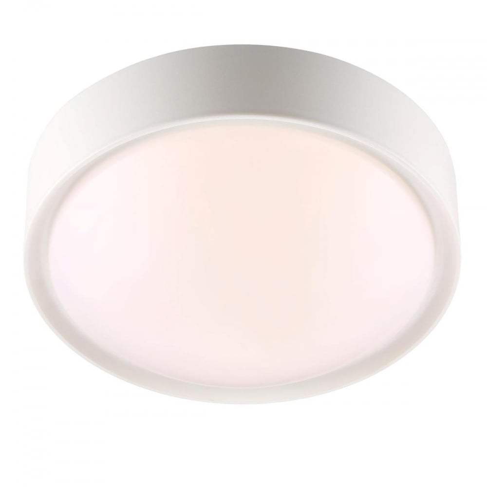 contemporary minimalist style flush led ceiling light in white