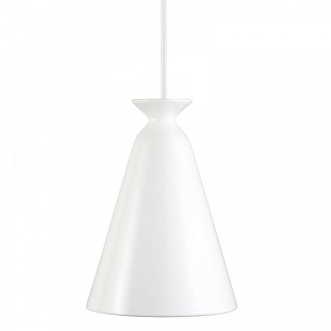 Nordlux CURVE modern ceiling pendant in white finish