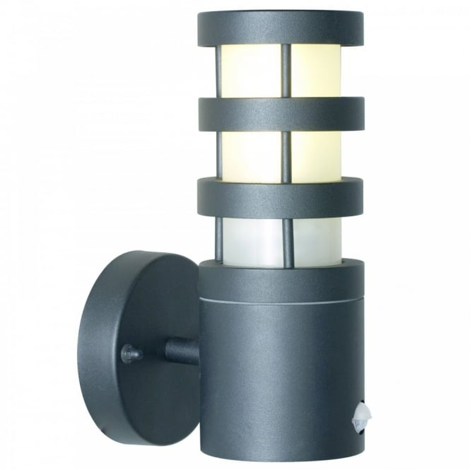 Wall Lights With Sensor : Modern Garden Wall Light with in built Sensor, Good Security Lighting