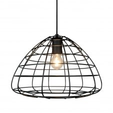 black wire frame ceiling pendant light
