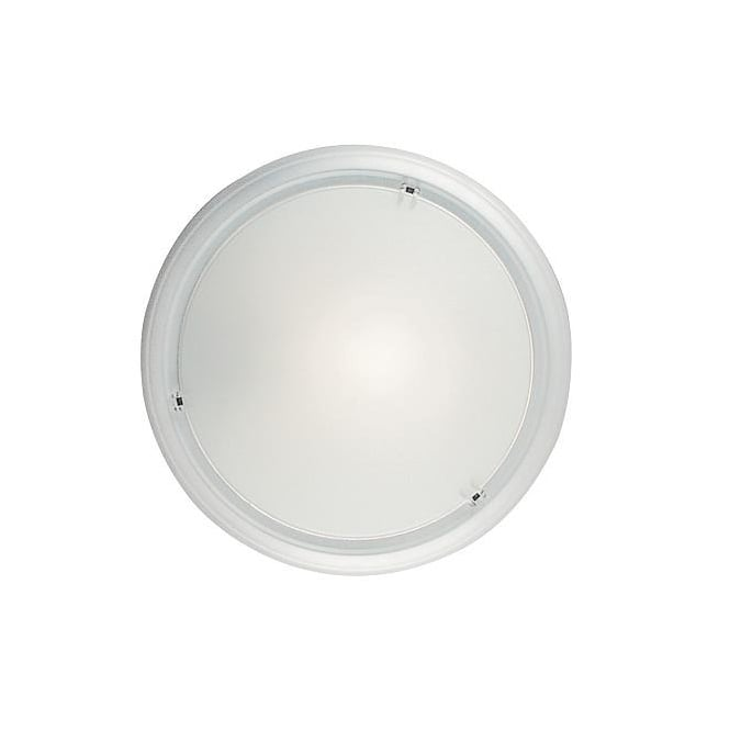 FRISBEE minimalist contemporary white flush ceiling light