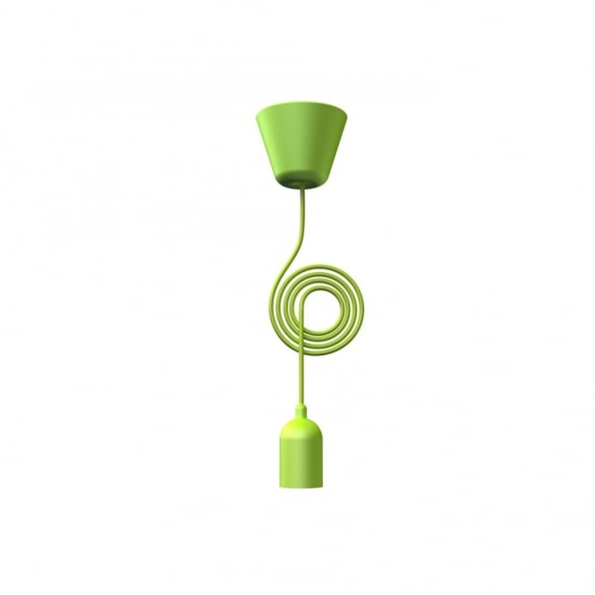 Nordlux FUNK lime green pendant light set & cord