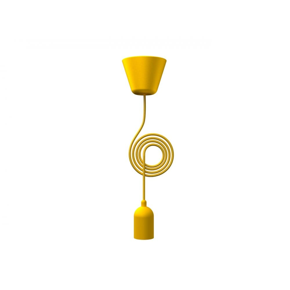 Funky Yellow Pendant Set With Yellow Cord
