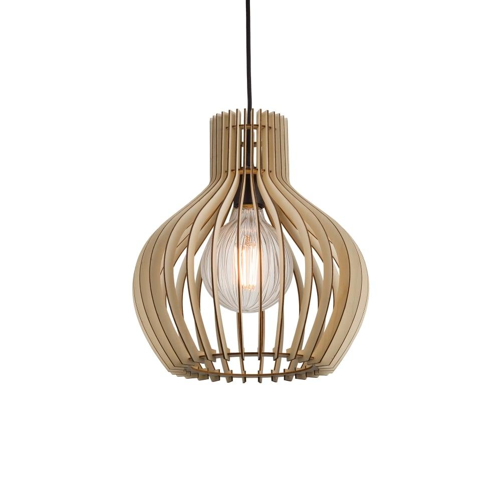 Wooden Slat Ceiling Pendant Light Small