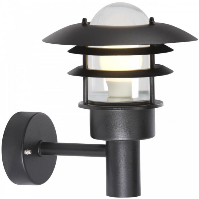 Black Garden Wall Lights : Garden Wall Light, IP44 rated,, Black Finish