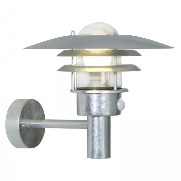 Garden Wall Light, IP44 Rating, Sensor In Built