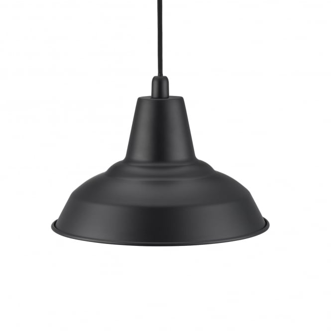 LYNE factory style ceiling pendant in black