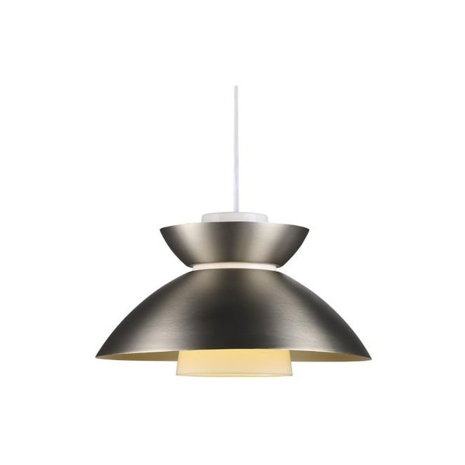Nordlux MIRROR contemproary design ceiling pendant in brushed steel finish