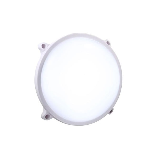 MOON round LED exterior wall light in white finish