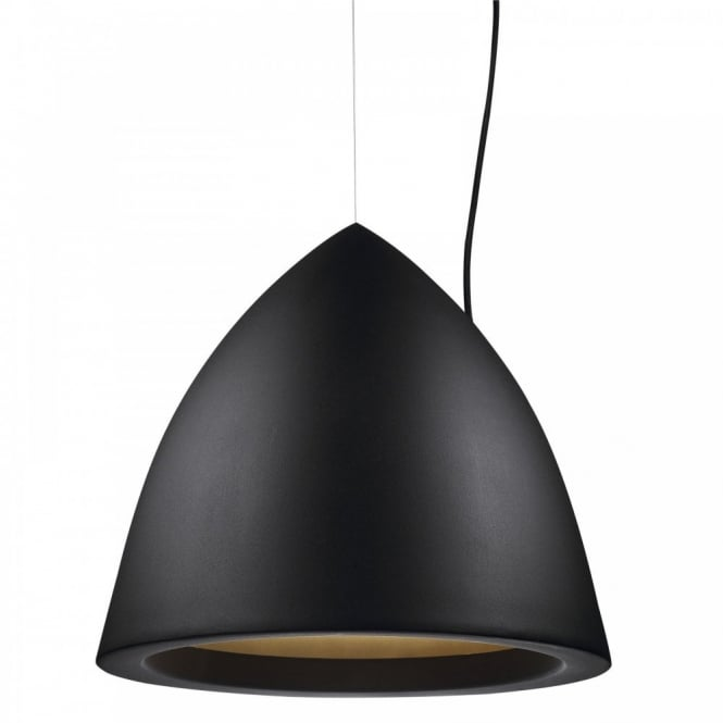 Nordlux MYSTIC 33 contemporary black ceiling pendant (large)