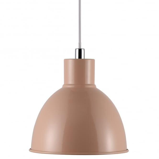 POP modern retro design ceiling pendant in a peach coloured finish