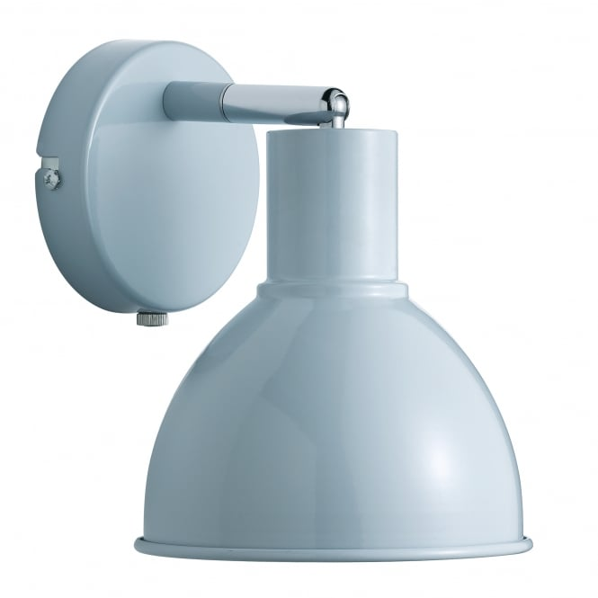 Nordlux POP modern retro style wall light in light blue (plug in and switched)