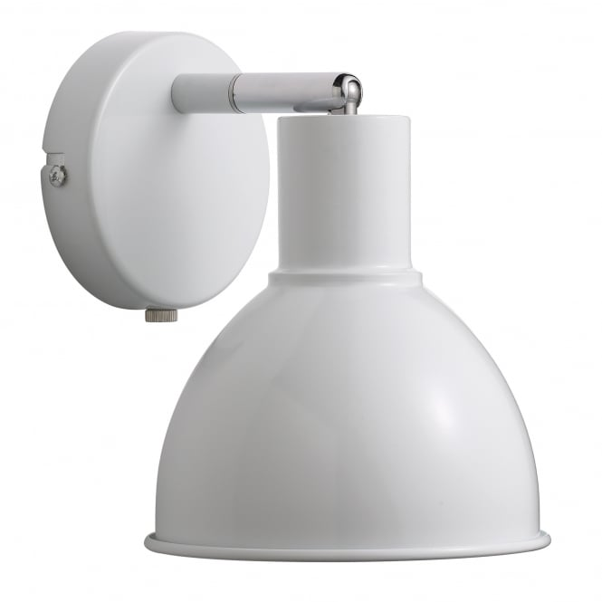 Nordlux POP modern retro style wall light in white (plug in and switched)