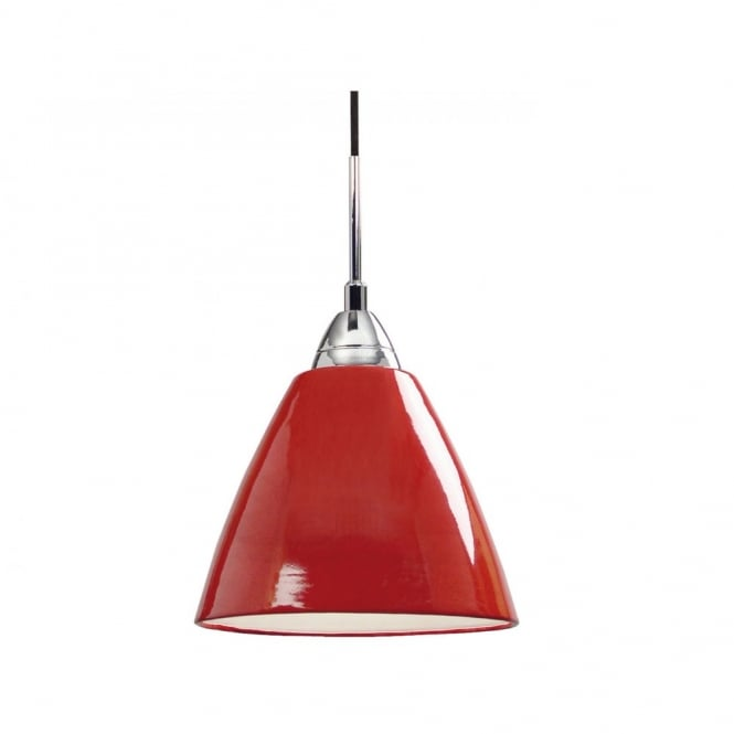 Nordlux READ large gloss red ceiling pendant light