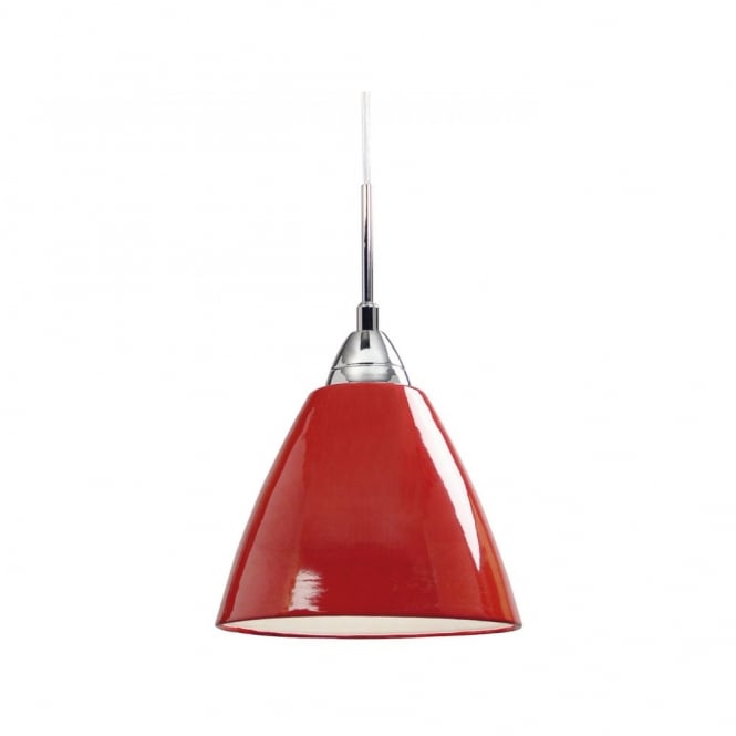 Nordlux READ medium gloss red ceiling pendant light