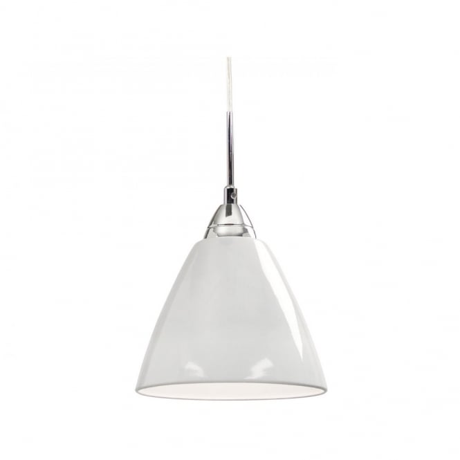 Nordlux READ medium gloss white ceiling pendant light