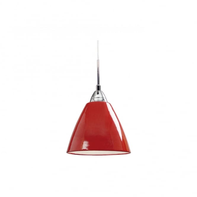 Nordlux READ small gloss red ceiling pendant light