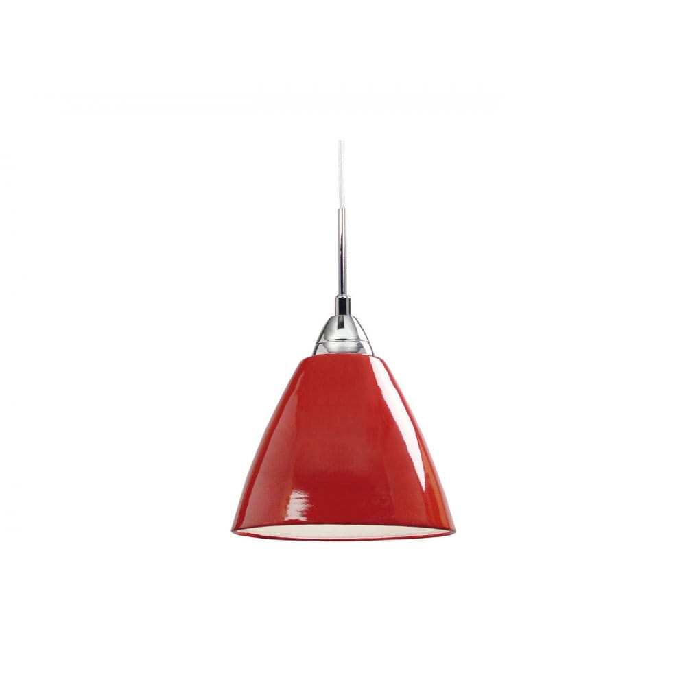 Double Insulated Small Red Metal Ceiling Pendant Light