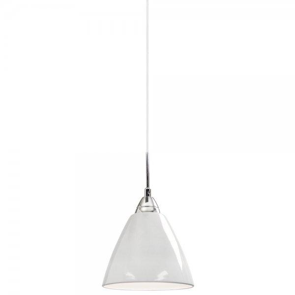 read small gloss white single pendant light insulated