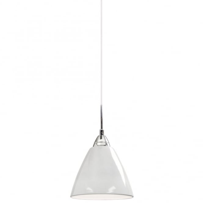 Nordlux READ small gloss white ceiling pendant light