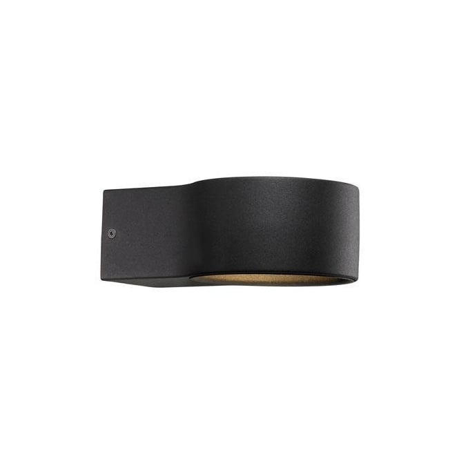 Contemporary LED Exterior Wall Light in a Black Finish