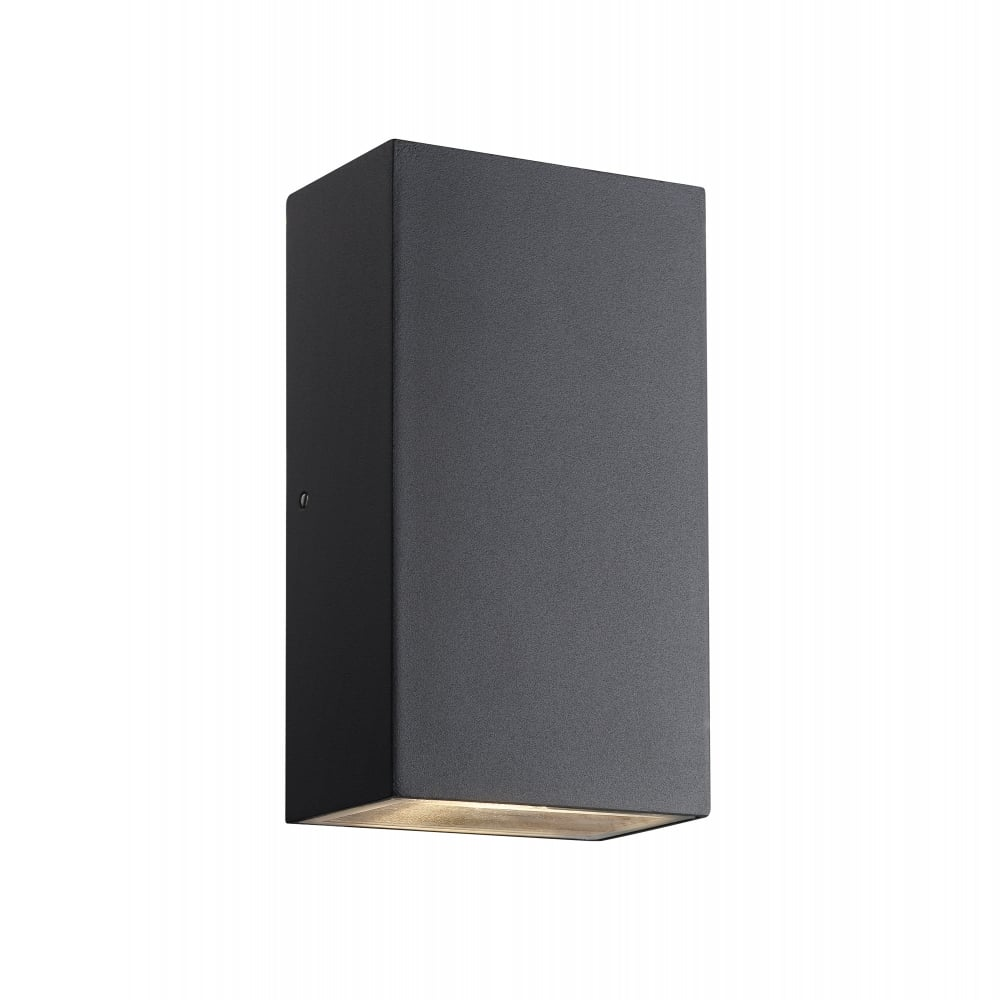 Exterior led wall light in black modern brick shaped exterior led wall washer light aloadofball Image collections