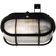 exterior bulkhead light in black