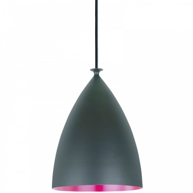 Nordlux SLOPE 22 ceiling pendant (black outer/red inner)