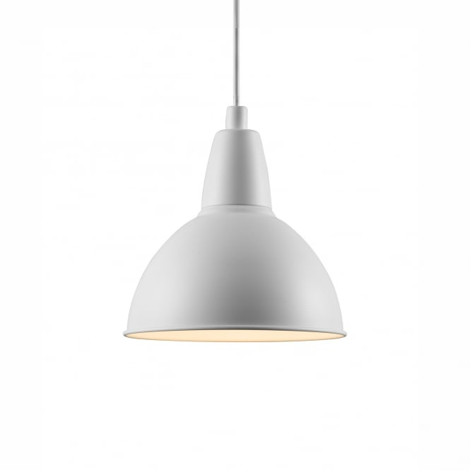 TRUDE contemporary single white ceiling pendant