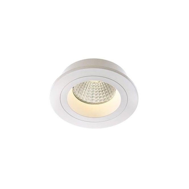 Modern led recessed ceiling spotlight in white finish modern led white recessed ceiling down light aloadofball Images