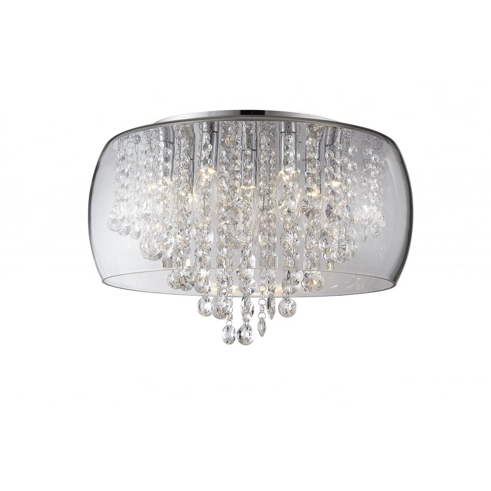 Modern Crystal And Glass Bathroom Ceiling Light Lighting
