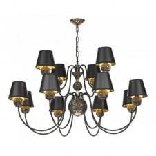 NOVELLA faceted bronze 12lt ceiling pendant