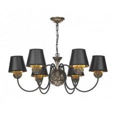 NOVELLA faceted bronze 6lt ceiling pendant