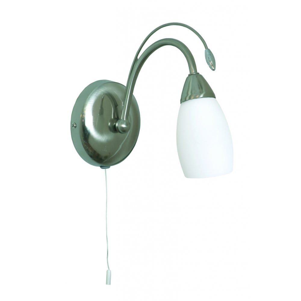 Single Chrome Wall Lights : Buy Antwerp Lights. Antique Chrome Single Switched Wall Light.