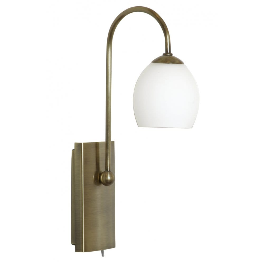 Buy Small Antique Brass Wall Lights. Great Over Bed Reading Light.