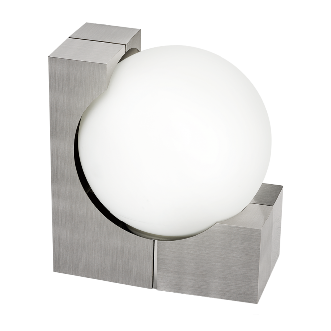 modern outdoor wall light with opal glass globe shade ip54 rated