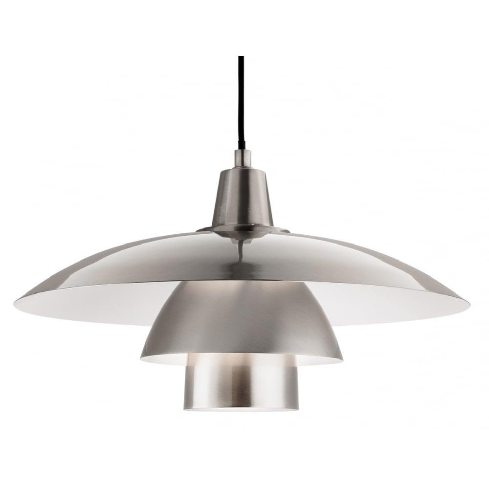 OLSEN contemporary brushed steel ceiling pendant
