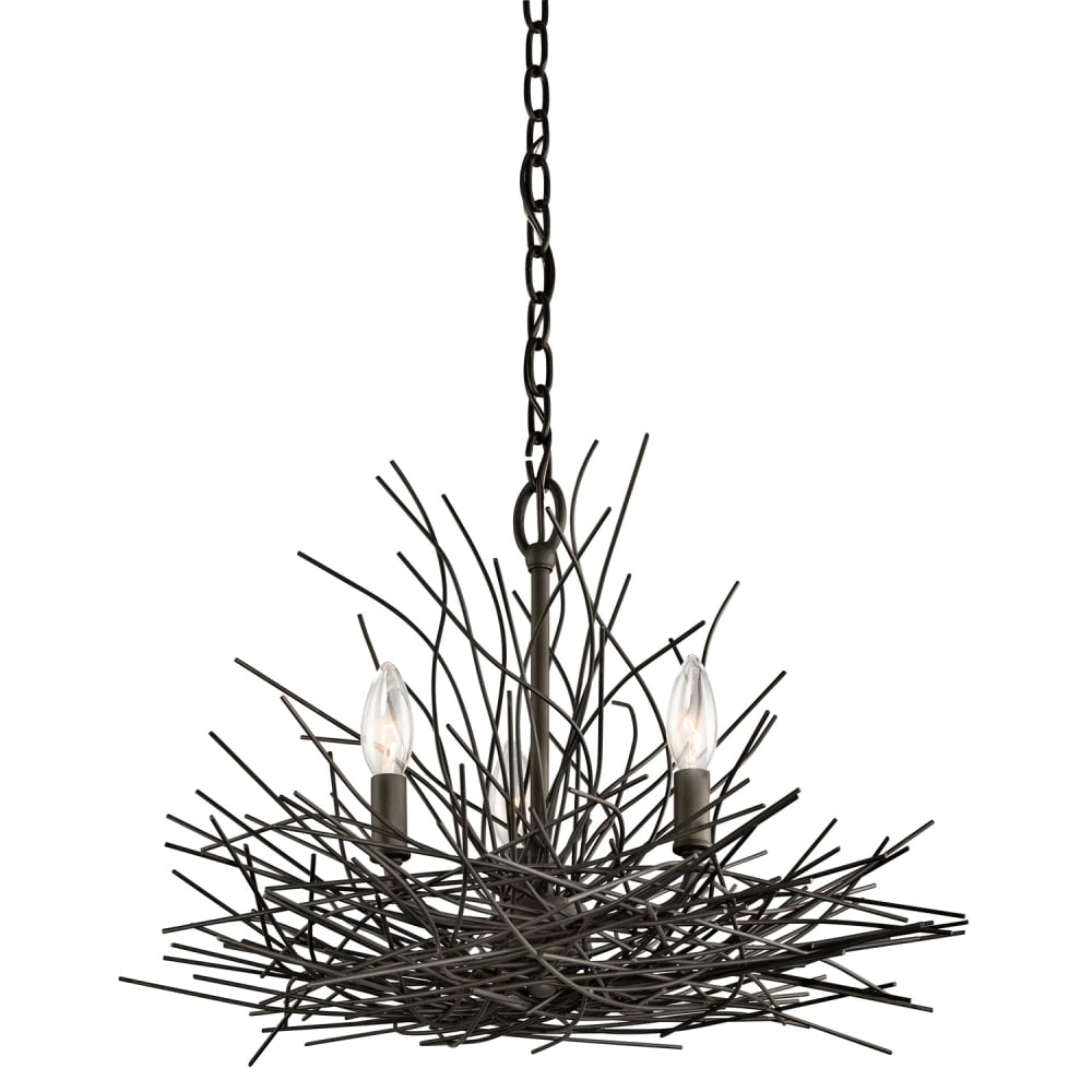 Decorative Old Bronze Chandelier With Wire Nest Design Wiring An Light Fixture Uk 3 In