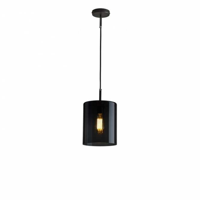 BROMPTON anthracite glass ceiling pendant light